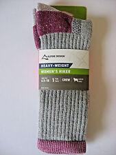 NEW Alpine Design Heavy-Weight Women's Hiker Socks * Free Shipping * Made in USA
