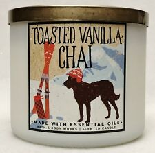 1 Bath & Body Works TOASTED VANILLA CHAI Large 3-Wick Scented Candle 14.5 oz