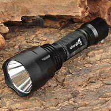 UltraFire C8 CREE T6 LED Flashlight  2200LM 18650 Torch Lamp 1 Mode Camp Light
