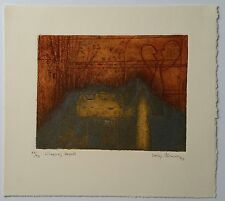 """""""Wings of Hearts"""" Limited Edition 1991 Collagraph Print by Helga Thomson..."""