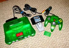 MINT NINTENDO N64 JUNGLE GREEN ALL ORIGINAL CONTROLLER W/EXPANSION WWE NO MERCY