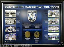 CANTERBURY BANKSTOWN BULLDOGS THE HISTORICAL SERIES LTD ED COA OFFICIAL NRL