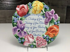 """Fitz & Floyd Essentials ~ Spring Bouquet � """"Thinking of You"""" Plate ~ Beautiful!"""
