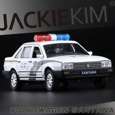 1:32 Scale Volkswagen Santana Diecast Police Car SOUND LIGHT 4-Doors Open 1/32