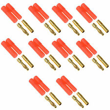 10 x RC HXT 4MM Gold Bullet Lipo Battery Connector For Plane Helicopter Car Quad