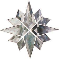 Round Star Clear Glass Bevel Cluster - 12 Piece Design