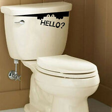 Creative Toilet Monster Hello Bathroom Decal Funny Vinyl Sticker Wall Art Funny