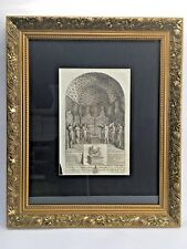The Holy of Holies in The Temple of Solomon P712 Engraving Framed Art Religious