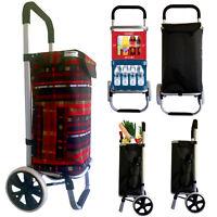 Einkaufswagen Einkaufstrolley Trolley Einkaufsroller Aluminium klappbar Tasche R