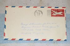 PHILATELIC COVER 1954 54 US AIR MAIL STAMPED ENVELOPE 6 cents cent