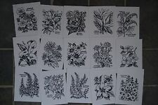 Psx stamped Images Only Botanical Flowers 46 Different Personal Exchange Complet