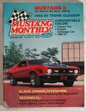MUSTANG MONTHLY 1983 SEPT - IRS FOR THE '64½, K-CODE