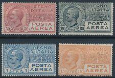 1926 - 28  ITALIA REGNO POSTA AEREA 4 FRANCOBOLLI MLH*- SV12-2