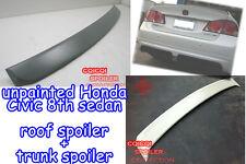 Unpainted COMBO HONDA 06-11 CIVIC 4D Sedan roof spoiler + trunk spoiler ◎