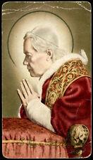 """santino-holy card""""""""ediz. AR serie C.222 S.PIO X PAPA"""