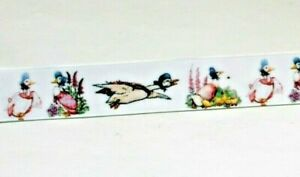 Sweetest Jemima Puddle Duck  ribbon 25mm (1 meter) Ideal for cakes,crafts & bows