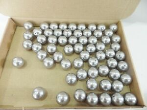 Wholesale Pack: 60+ 20mm Acrylic Pearl Beads - GREY