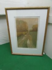 Autumn Fall French Country Fields Signed Framed Screen Print by Michael Carlo