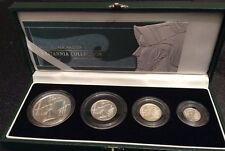 2003 Royal Mint Ltd Ed Britannia Collection 4 Coin Silver Proof Set, Cased & COA