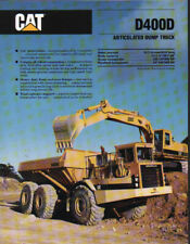 "Caterpillar ""D400D"" Articulated Dump Truck Brochure Leaflet"