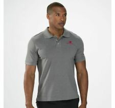 NWT!!  MEN'S NEW BALANCE LIGHTNING DRY PIQUE POLO - HEATHER GREY - MET4162 HGR
