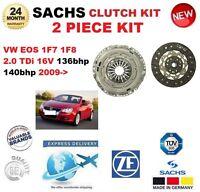 FOR VW EOS 1F7 1F8 2.0 TDi 16V 136bhp 140bhp 2009-> SACHS 2 PIECE NEW CLUTCH KIT