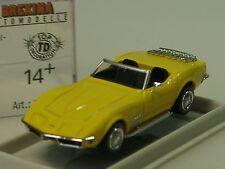 Brekina Corvette C3 Cabrio, gelb - 19981 - 1/87