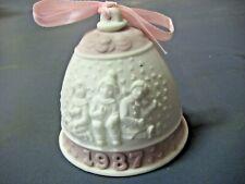 Lladro Annual Christmas Bell Ornament - 1987