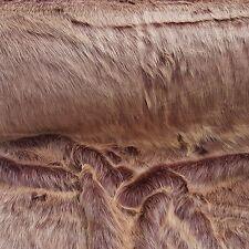 Webpelz Langhaar kuscheliges Kunstfell Stoffe Dekoration Violett/ Rosa NB4529