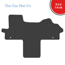 Fiat Ducato Walkthrough 2007+ Fully Tailored Black Rubber Van Mats With Red Trim