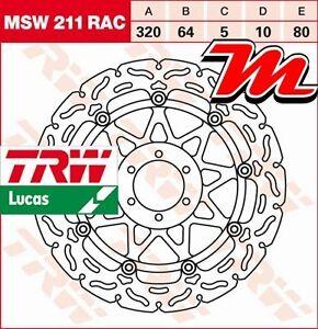 Disque de frein Avant TRW Lucas MSW 211 RAC pour Moto Guzzi 850 Griso LS 2007-