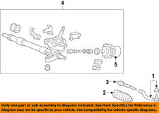 HONDA OEM Steering Gear-Inner Tie Rod End 53010TR0A01