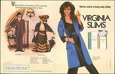1984 vintage Tobacco AD VIRGINIA SLIMS Cigarettes Lovely Brunette Model 022116