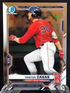 Triston Casas 2021 Bowman Chrome Baseball Rookie Card RC Boston Red Sox Prospect