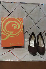 "Gabriella Rocha Quilla Brown Suede Women's Size 8.5 M  3"" Heel New in Box MINT"