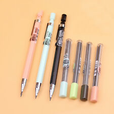 Pink Automatic Mechanical Pencil with Lead Holder School Stationery Random Color