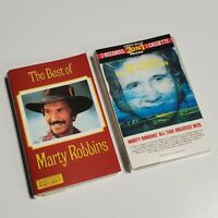 MARTY ROBBINS - Bundle Lot of 2 Cassette Tapes - GREATEST HITS