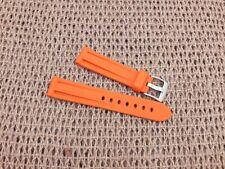 Zuludiver 20mm Orange EPDM Rubber Italian Diver Watch Strap