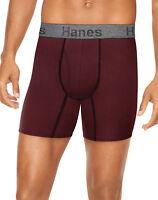 Hanes Men's 3-Pack Comfort Flex Boxer Briefs Fit Ultra Soft Cotton Stretch Wick