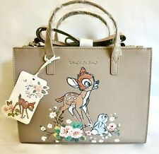 Cath Kidston Bambi Grab Bag Double Zip Crossbody Handbag Thumper Messenger Tote