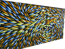 Fish Canvas Art seascape large Painting original 180cm x 80cm aboriginal
