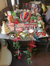 Job Lot Of Vintage Christmas Decorations