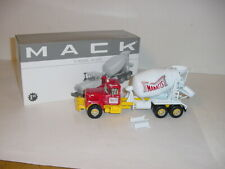 1/34 First Gear Diecast Manatts Mack R-Model Cement Mixer W/Box!