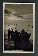 1950 Seebad East Germany DDR  Real Picture Postcard cover to Berlin Fishing Boat