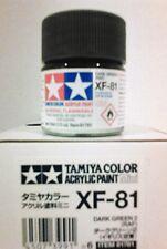 Tamiya acrylic paint XF-81 Dark green 2 (RAF) 10ml Mini.