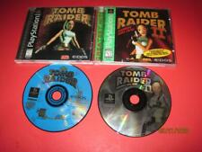 Lot 2 Eidos Tomb Raider & Tomb Raider Ii Playstation 1 2 Ps1 Ps2 w/ Manuals