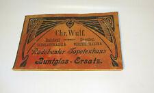 Katalog Musterbuch Chr.Wulf Radebeul Dresden Tapeten-Haus Buntglas-Ersatz 1910er