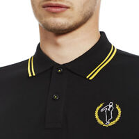 Ska Man Embroidered Twin Tipped Fred Perry Style Polo Shirt