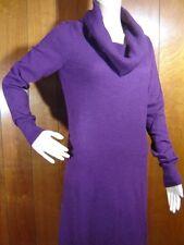 LADY HATHAWAY womens Sweater Dress size M 8 SoFt FuzZy Angora Burgundy Cowl Neck