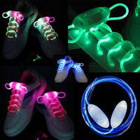 1 Pair Fashion LED Shoe Laces Flash Light Up Glow Stick Strap Shoelaces Disco